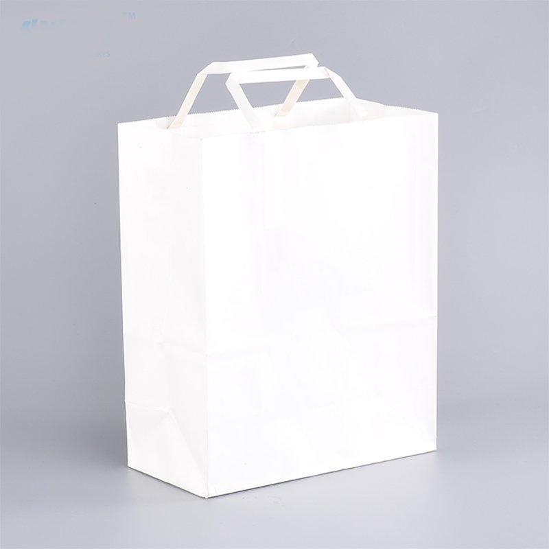 White Brown Hand Bag Clothing Packaging Bag