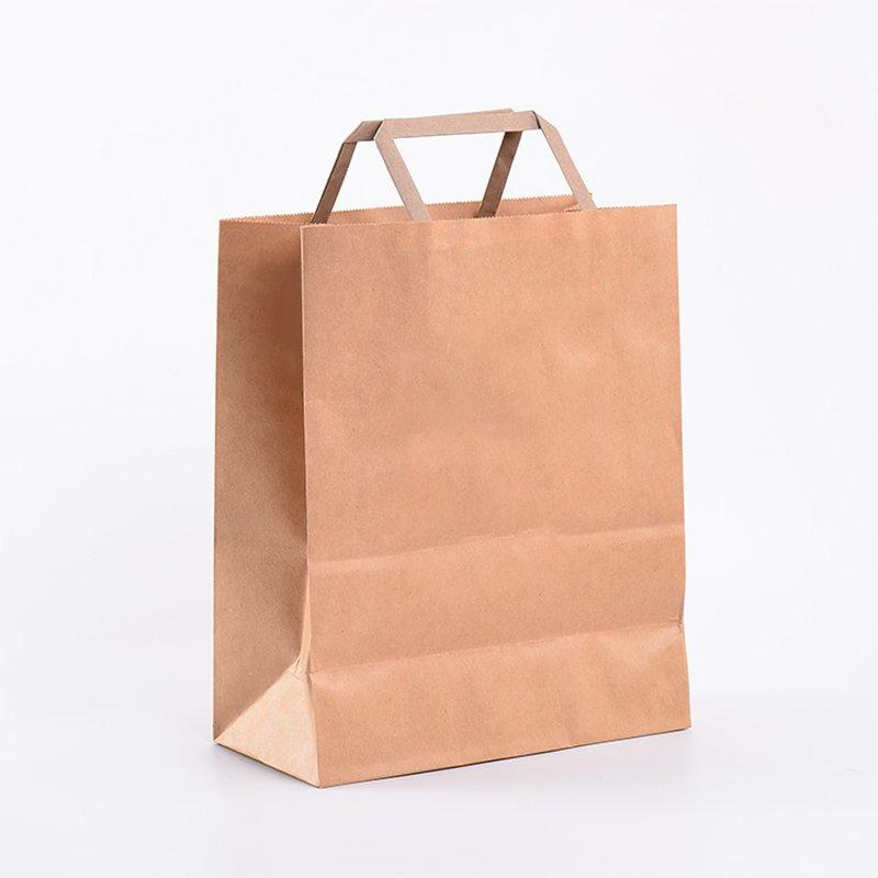 Custom Clothing Shopping Kraft Brown Clothes Packaging Bags With Handle