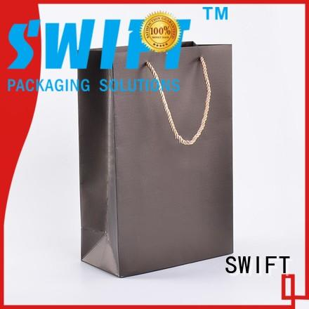 SWIFT luxury paper gift bags with handles with good price for holiday