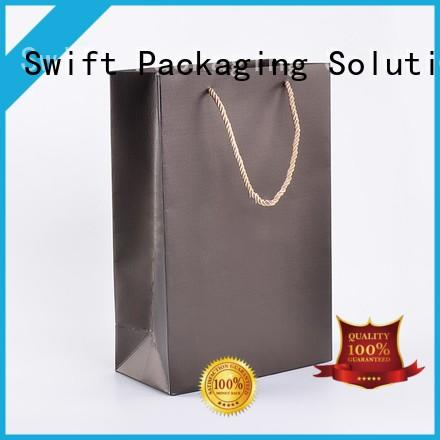 SWIFT paper gift bags with handles factory price for Christmas