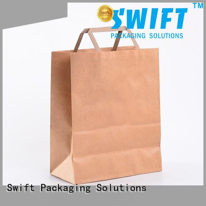 kraft paper carrier bags directly sale for garment