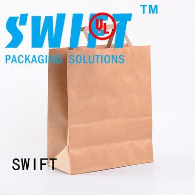 Quality retail paper bag suppliers SWIFT Brand handle custom paper bags