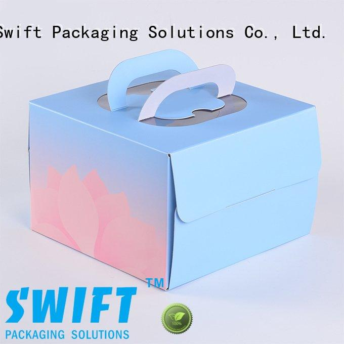 Hot food safe cardboard boxes containers disposable cake SWIFT Brand