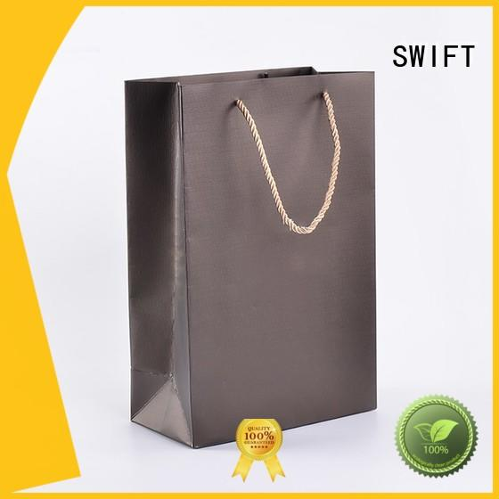 kraft paper gift bags with handles factory price for Christmas