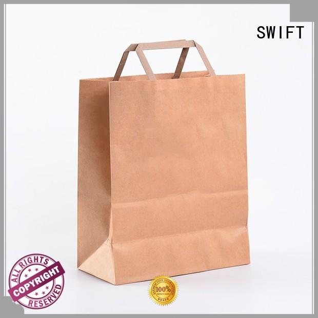SWIFT kraft paper carrier bags with good price for garment
