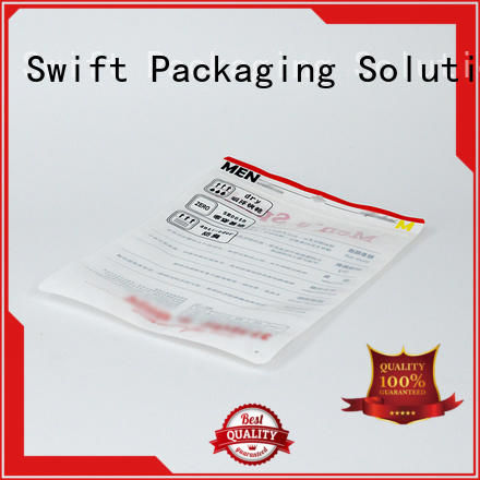 SWIFT cloth packaging bags supplier for t shirt
