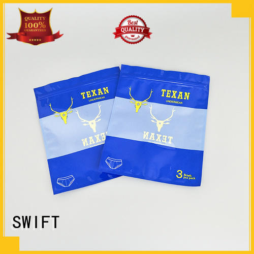 SWIFT plastic packaging bags wholesale customized for panties