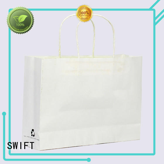 SWIFT luxury colored paper gift bags with handles for Christmas