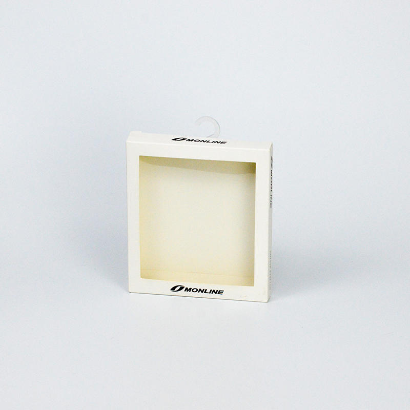 Window Boxes Underwear Packaging Box With Clear Plastic Hook On The Top