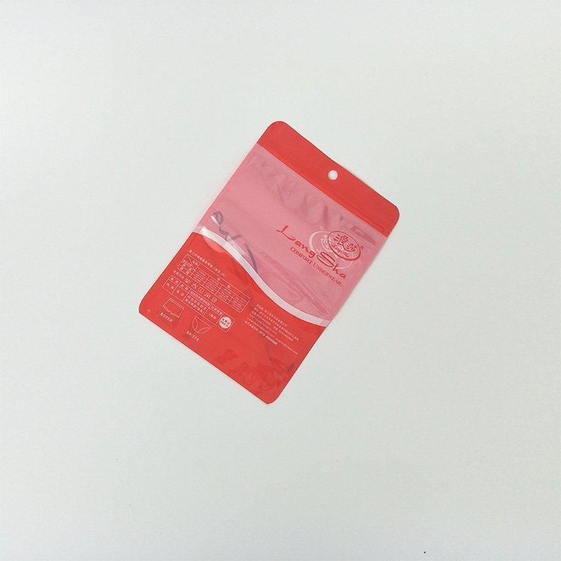 Custom Design Luxury zip lock Plastic Bag Underwear For Lady's Underwear Packing