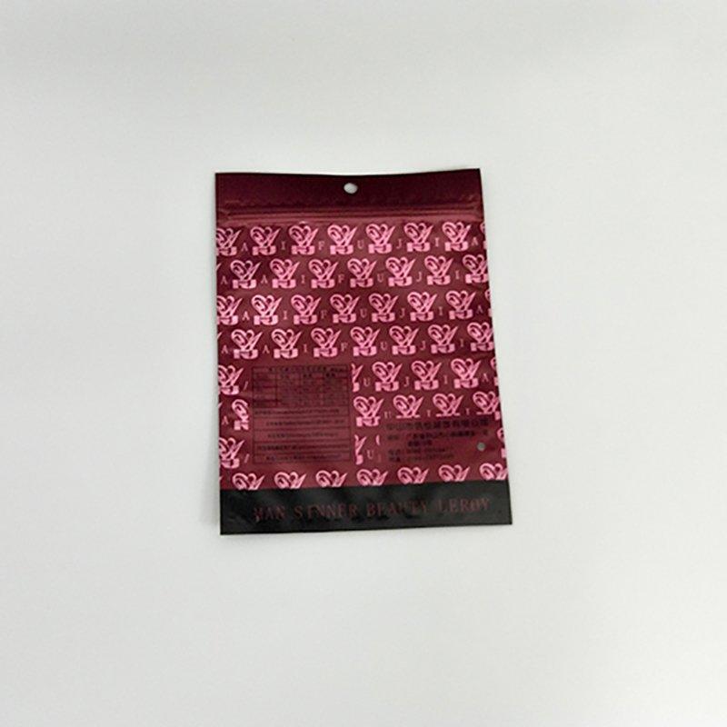 Custom Underwear Packaging Bag zip lock plastic bag 6.PMS Color Printing