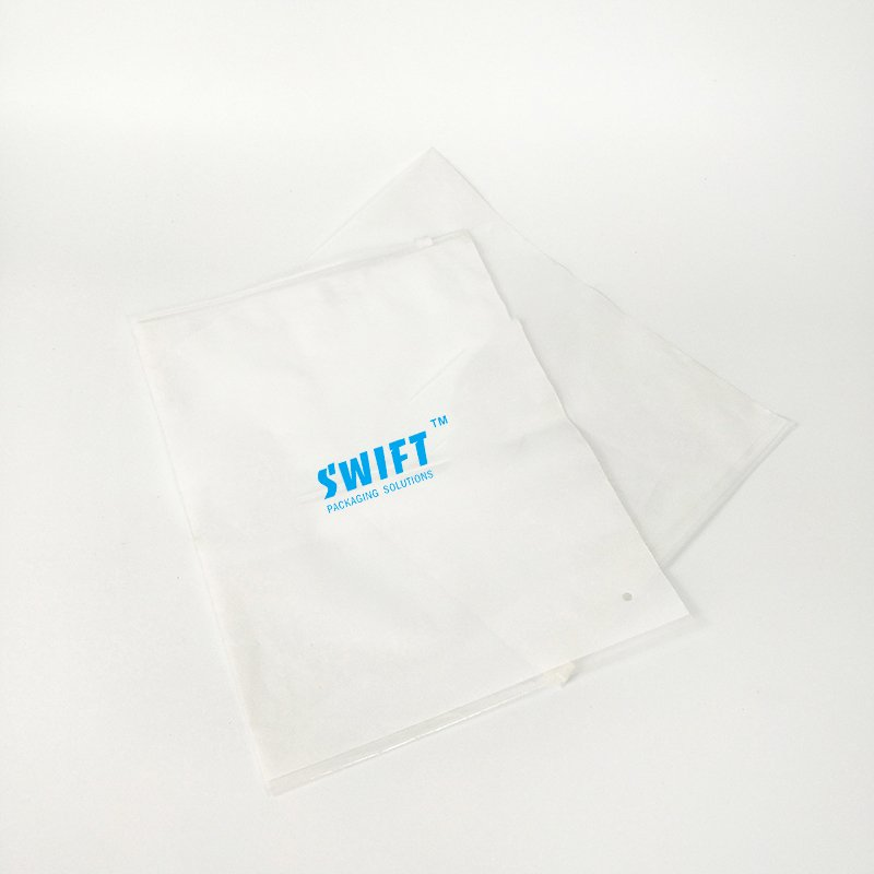 SWIFT Transparent Adhesive Bag Zipper Bag Plain Plastic Bags For Clothes Clothing Plastic Bag image6
