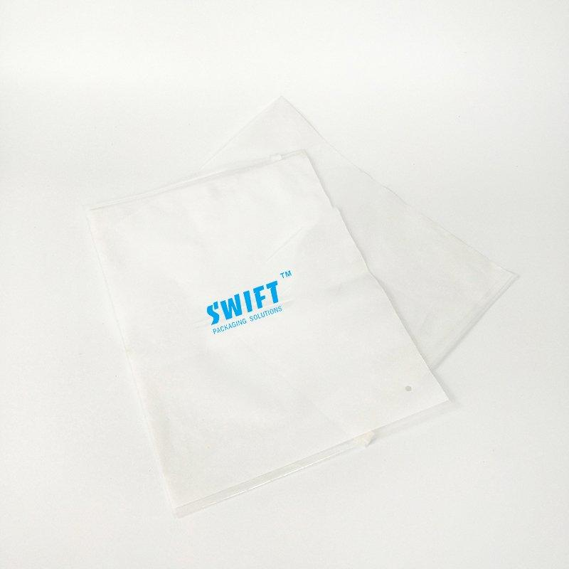 Transparent Adhesive Bag Zipper Bag Plain Plastic Bags For Clothes