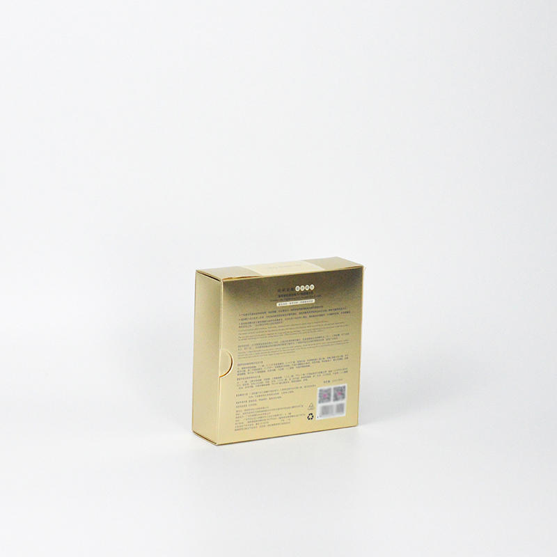 Cardboard Cosmetic Packaging Box Gold Color