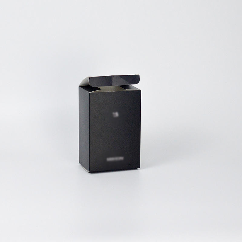 400g Black Card Paper Material Cosmetic Packaging Boxes