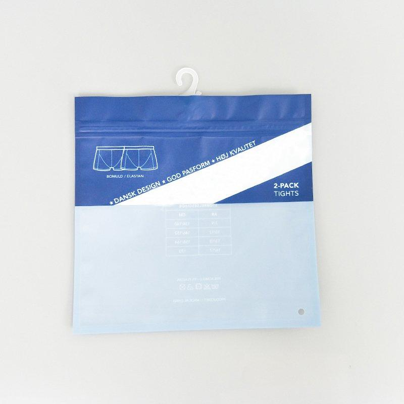 Custom Plastic Color Underwear Packaging Bag In China
