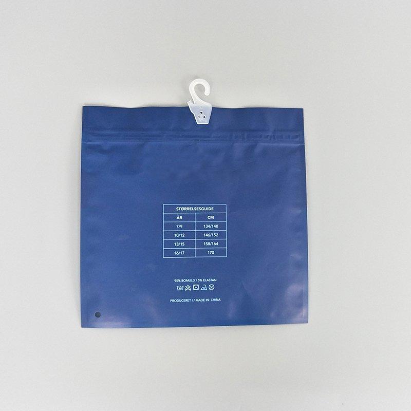 Custom Plastic Color Underwear Packaging Bag In China