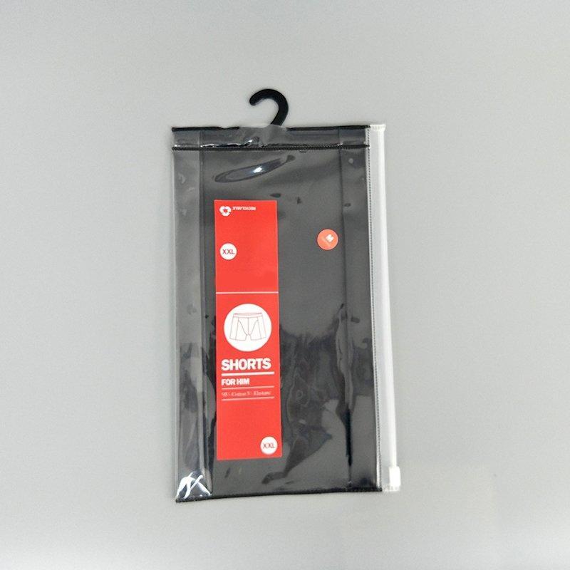 Clear Printed Ziplock Bag Men's Underwear Packaging Bag With Hook