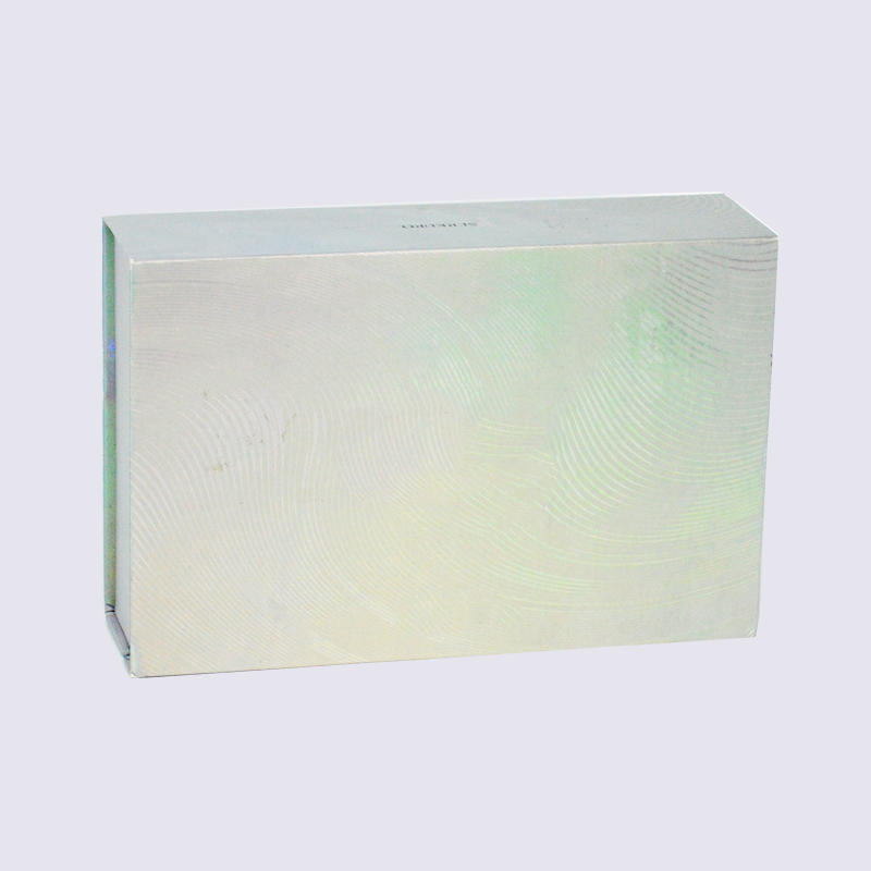 Rectangle Silver Magnetic Cosmetic Packaging Box