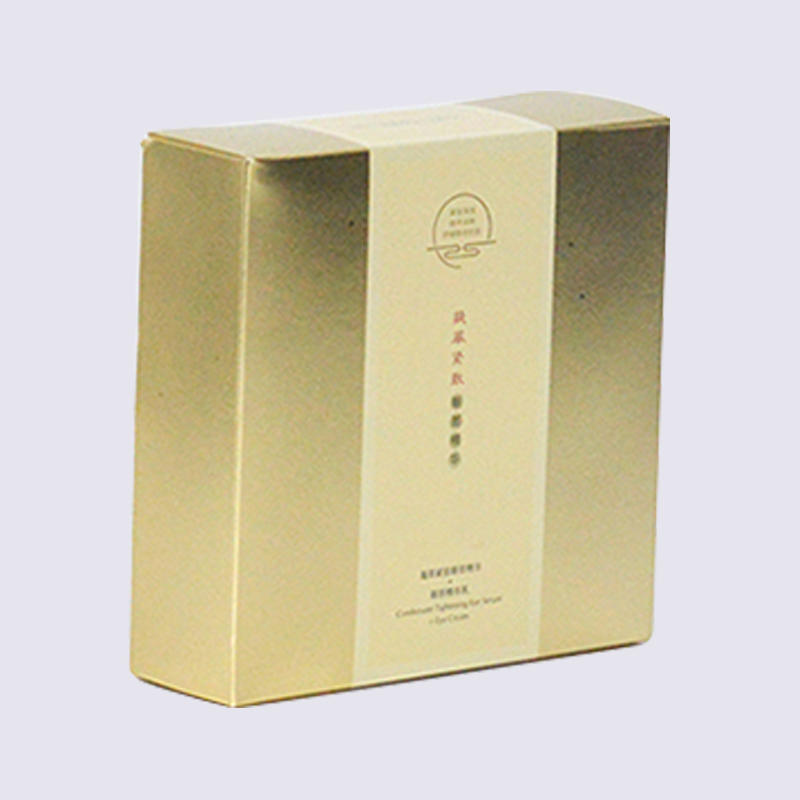 Size Custom Gold Cosmetic Paper Packaging Box