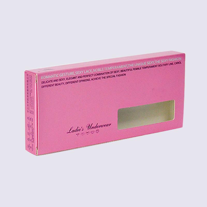 SWIFT custom made lady's underwear packaging box with open window Underwear Cardboard Box image10