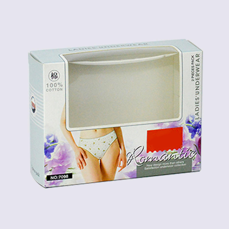 convenient opening underwear packaging box with window
