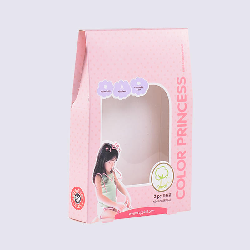 children's underwear packaging box can stand up after underwear packed