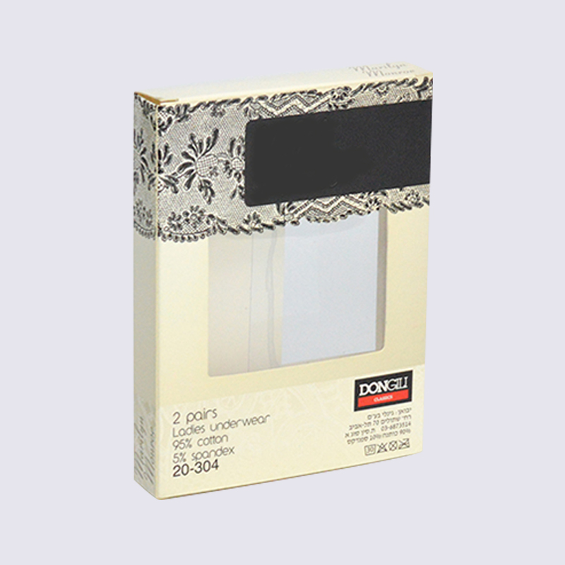 SWIFT Lady's underwear packaging box With PVC window on both sides Underwear Cardboard Box image20