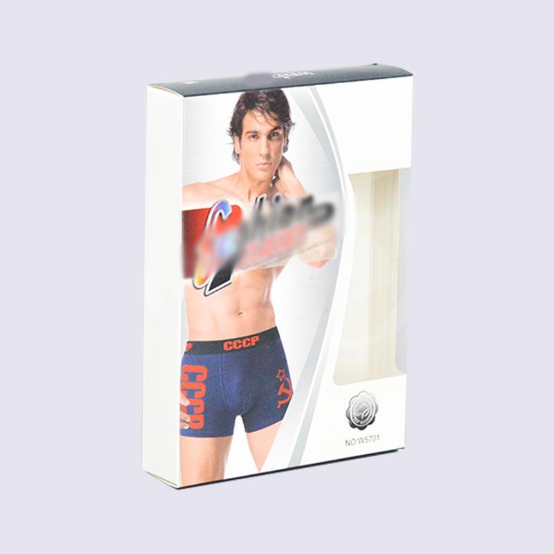 meet European standard underwear packaging box With PET window