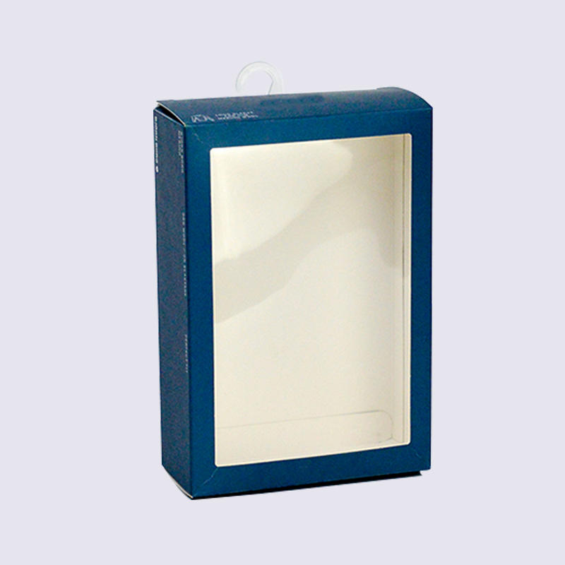 Underwear Packaging Boxes With Plastic Hook Attached For Underwear Packaging