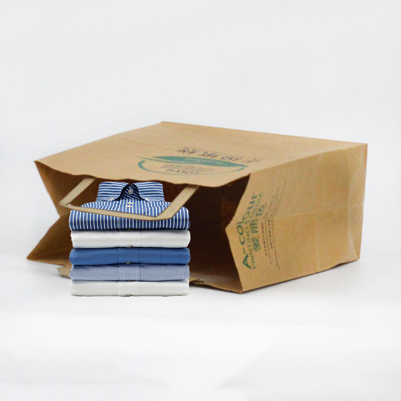 Brown Kraft Clothing Paper Packaging Bag