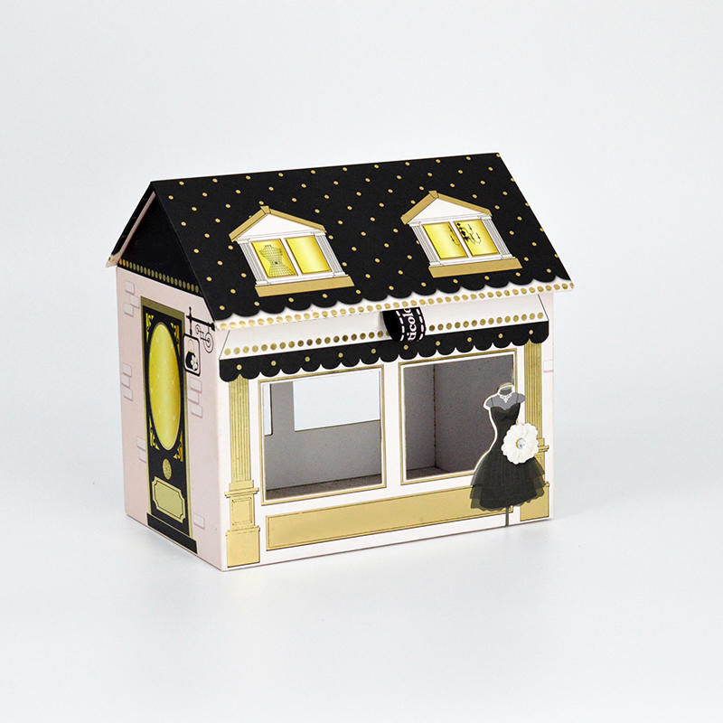 House Shape Paper Packaging Box For Gift