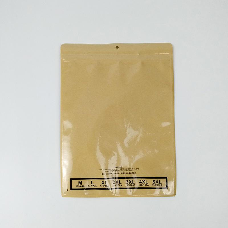 Custom Printing Clothing Packaging Paper Bag Zip Lock