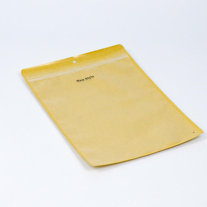 Custom Printing Clothing Packaging Paper Bag Zip Lock