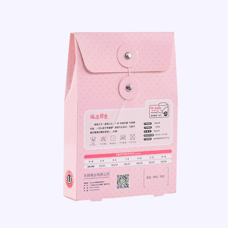 Children's Underwear Cardboard Packaging Box