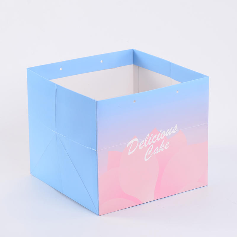 Custom High Quality Wedding Paper Cake Box