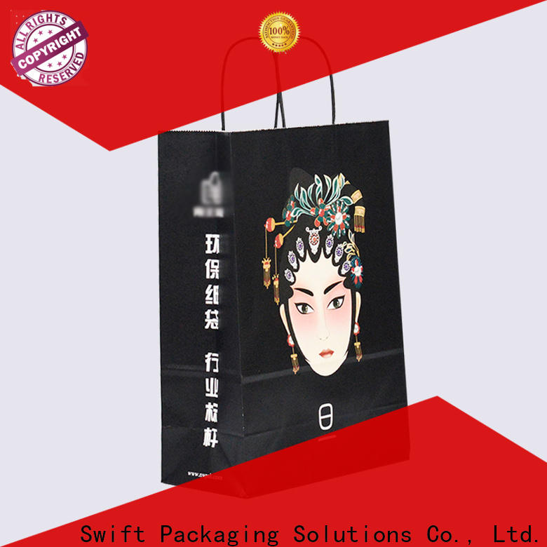 SWIFT paper gift bags with handles factory price for birthday