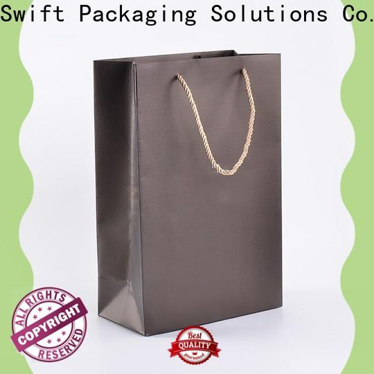 custom paper gift bags with handles with good price for holiday
