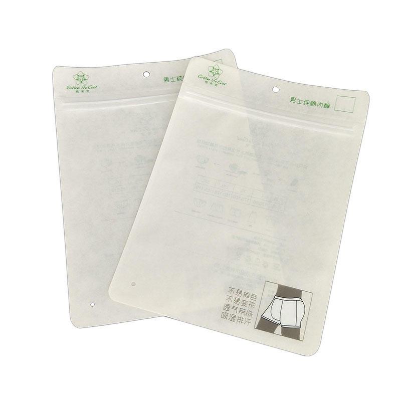 Stand Up Zipper Top Plastic Bag Underwear