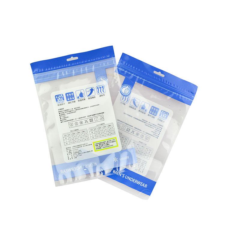 Plastic Men's Underwear Packaging Bag with Zipper