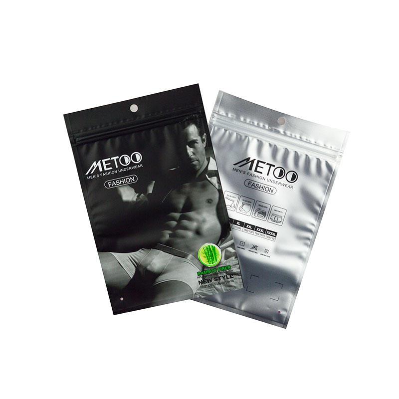 Mens Underwear Packaging Bag Design Clear Underwear Packaging Bag