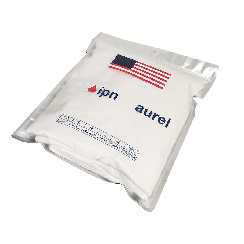 Custom printed matte finish effect aluminum foil compound packaging heat sealed bags underwear packing bag