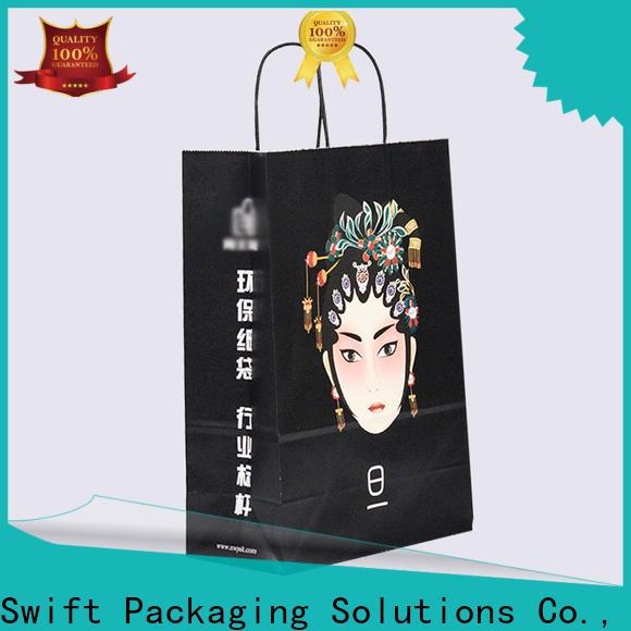 SWIFT custom paper gift bags wholesale supplier for Christmas