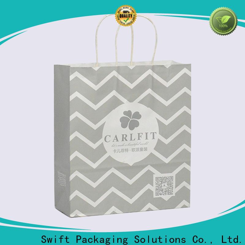 SWIFT wholesale custom paper bags manufacturer for garment