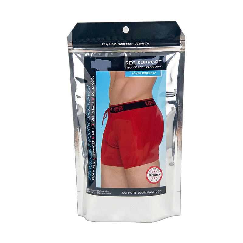 Custom printed plastic stand up aluminum foil underwear bags bag for undergarments