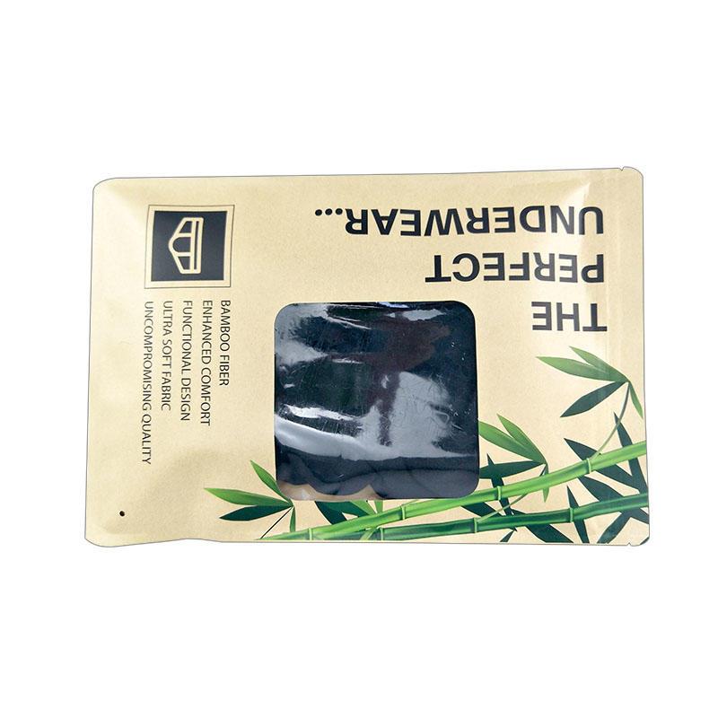 Resealable bags self adhesive bags lingerie packaging bag kraft paper underwear packaging bag