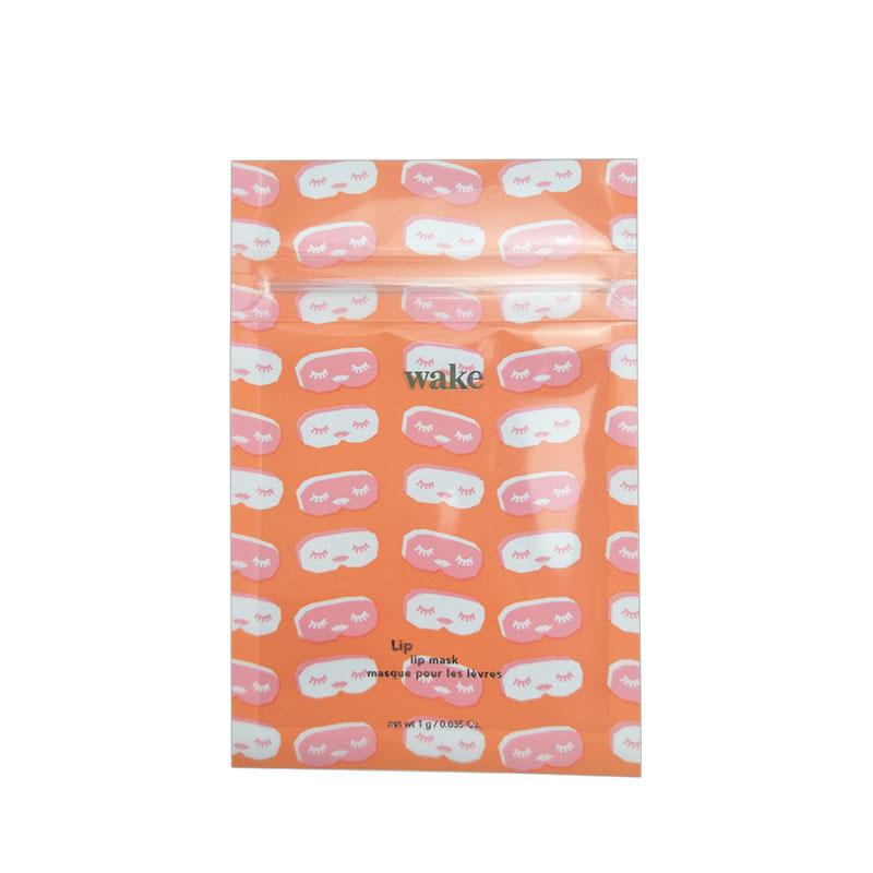 Custom plastic eyelashes clear window bag cosmetic false eyelashes packaging bag