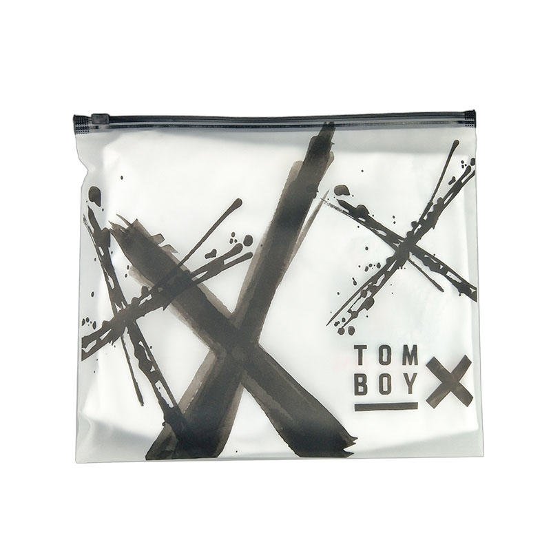 Zipper plastic bag plastic zipper pouch custom plastic zip bags underwear CPE bag