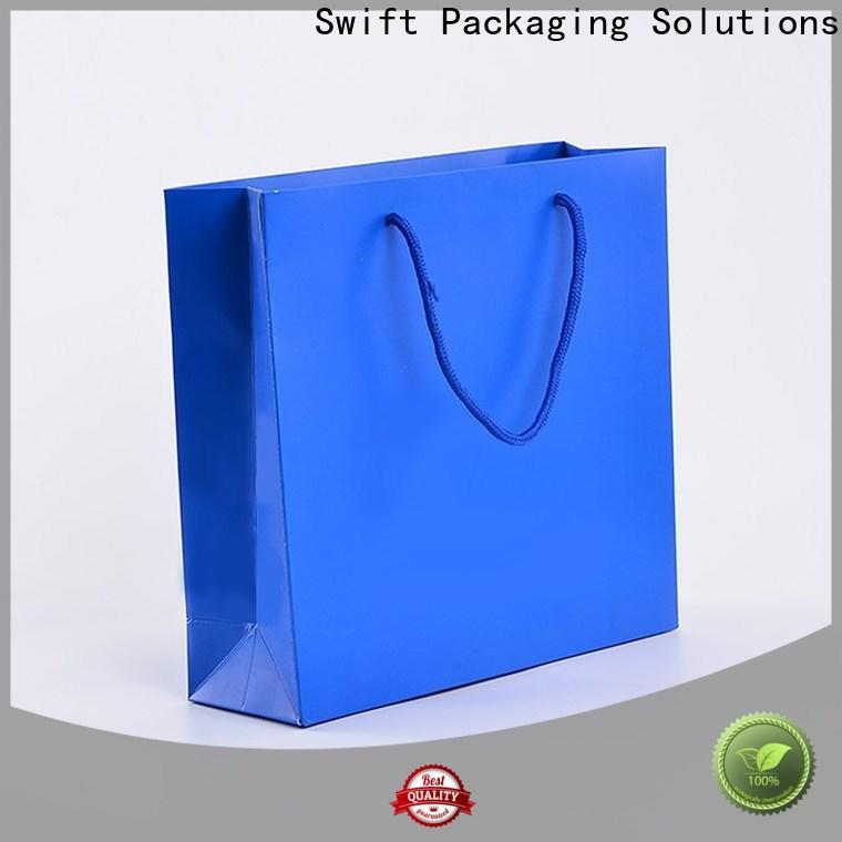 SWIFT custom paper bags with good price for jacket