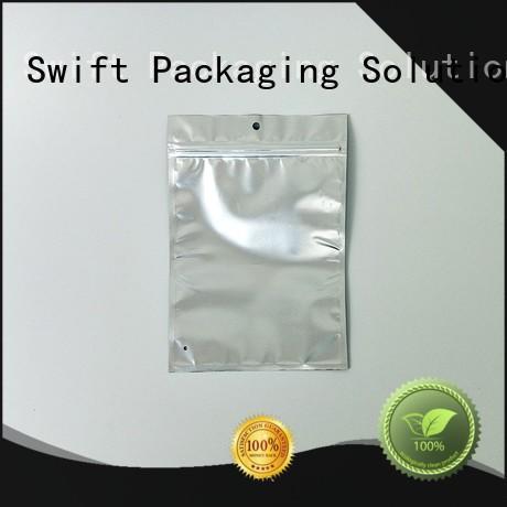 SWIFT zip lock plastic packaging bags wholesale directly sale for panties
